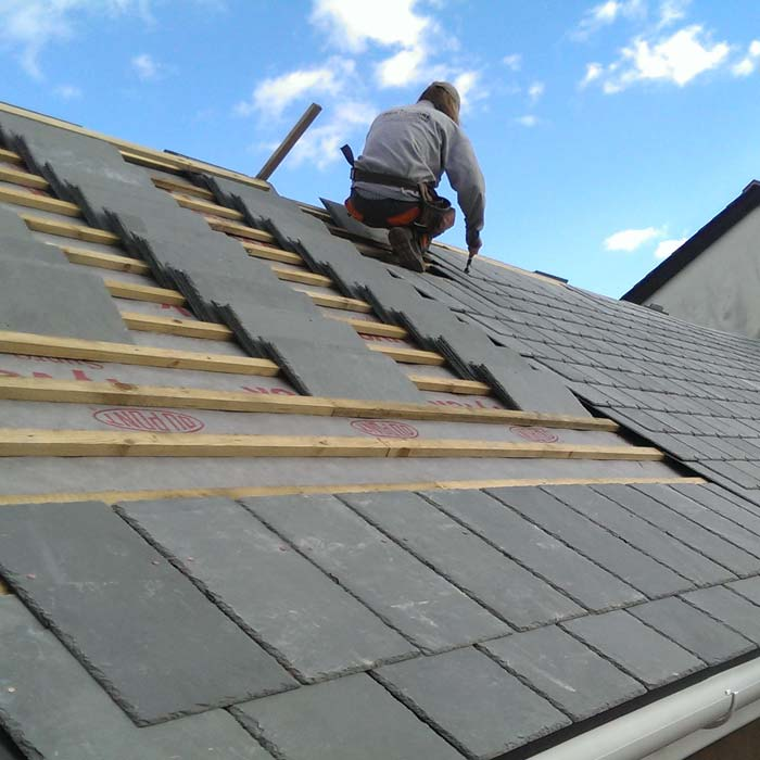 Northshore Craftsman on Roof