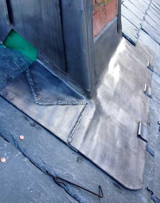 Quality Leadwork around Chimney